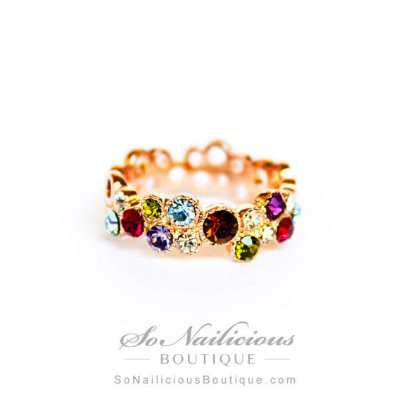 Precious Stones 18K Gold Ring - ONLY 1 LEFT!