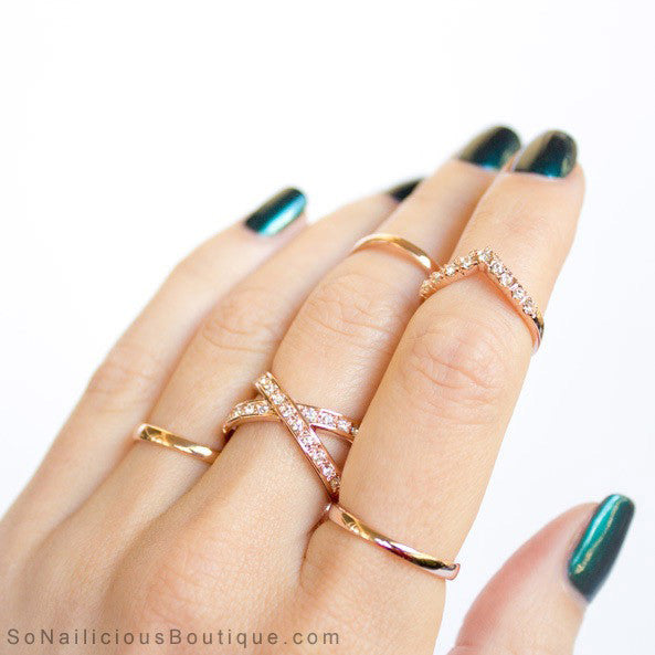 Delicate Gold Rings
