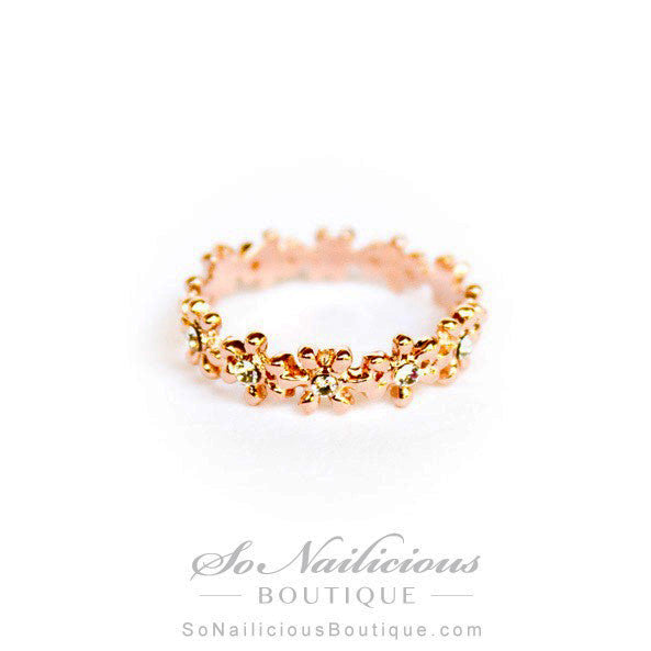 Flower Crown Delicate 18K Gold Ring - ONLY 1 LEFT!
