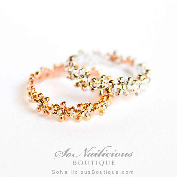Flower Crown Delicate 18K Gold Ring ONLY 1 LEFT SoNailicious