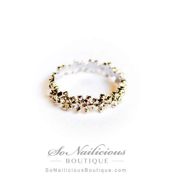 Flower Crown Delicate Silver Ring - ONLY 2 LEFT!