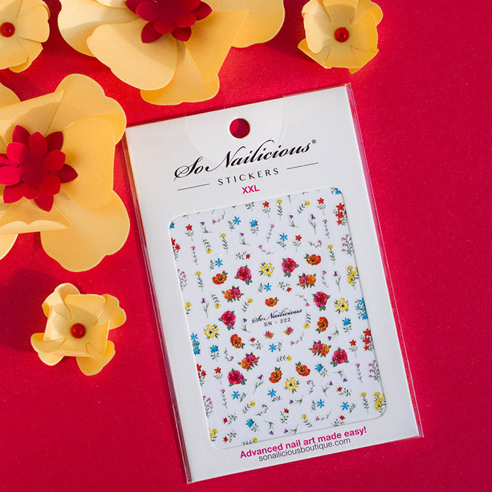 sonailicious floral nail stickers