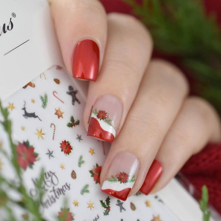 Christmas nail art with SoNailicious stickers