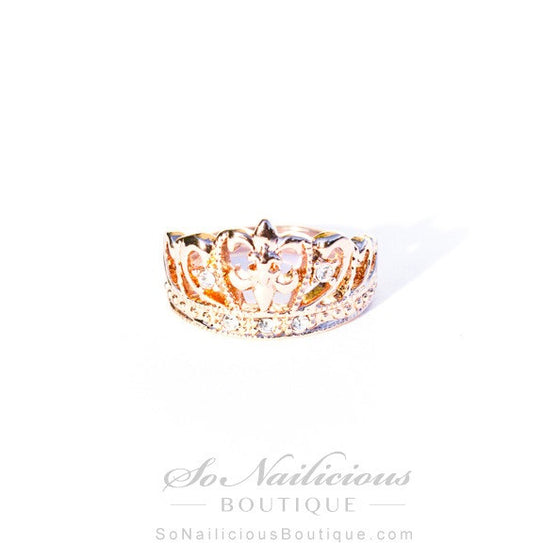 Gold Royal Crown Ring