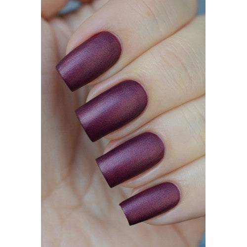 Dark Red Matte Nail Polish