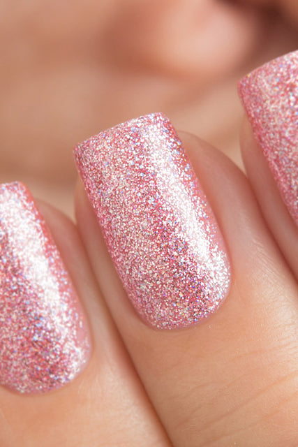 DANCE LEGEND 008 pink glitter nails