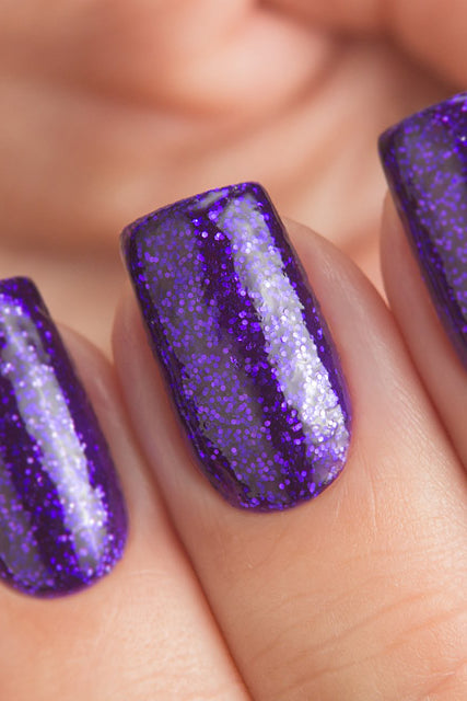 DANCE LEGEND 045 Purple Glitter polish
