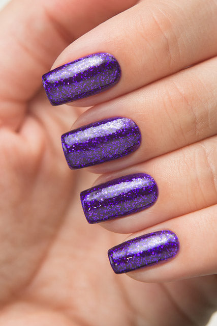 Purple Glitter Nais