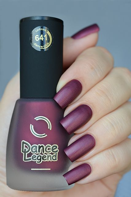 DANCE LEGEND 641 Dark Red Matte Polish