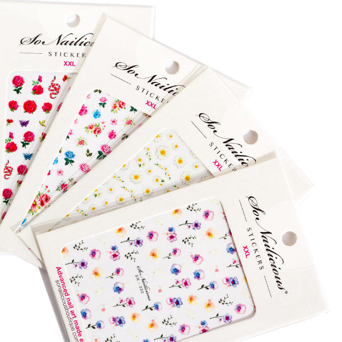 Garden Flower Nail Sticker Set
