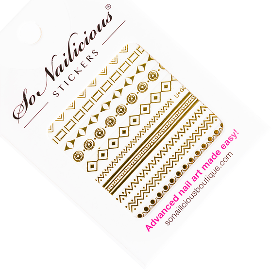 Golden Goddess Gold Nail Stickers