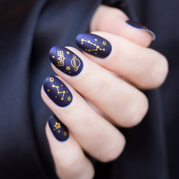 Interstellar nail stickers - black