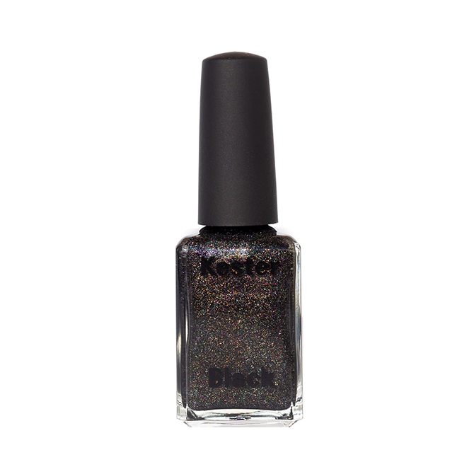 Kester Black Black Diamonds black holographic nail polish