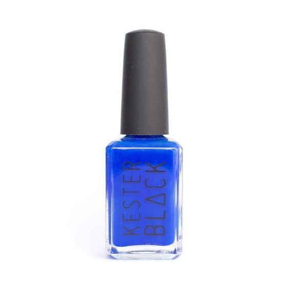 KESTER BLACK Monarch, bright blue nail polish