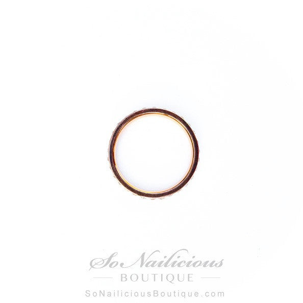 Minimalist Rose Gold Ring With Diamantes - 20% OFF!