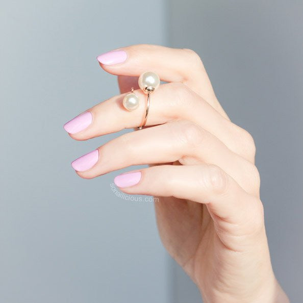 Mother of Pearls Ring - Platinum & Gold - ONLY 1 LEFT!