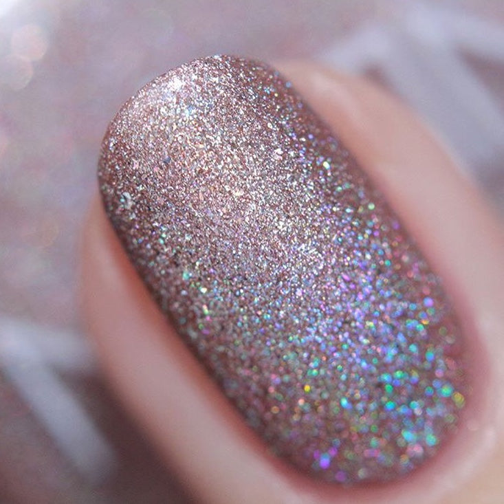 nails inc Straight To My Head holographic nail polish swatches