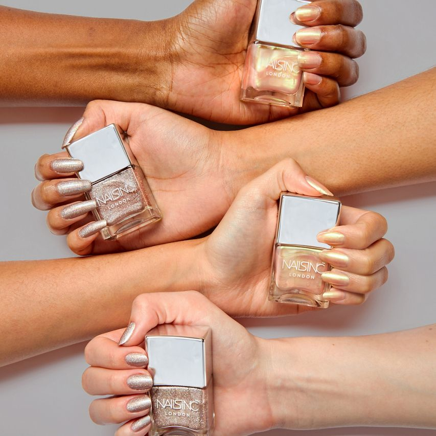 Nails Inc Champagne Shine swatches