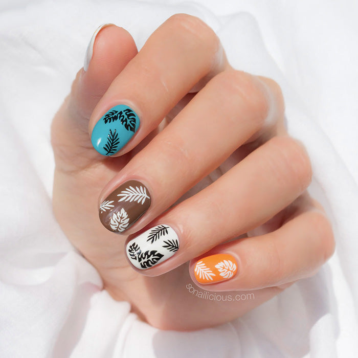 Summer nail art with SoNailicious stickers