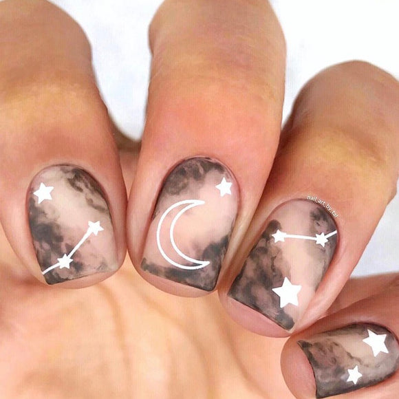 Stellar nail stickers - black