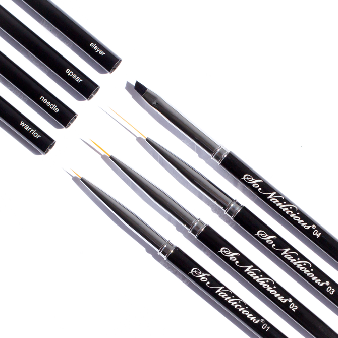 Professional nail art brushes - SoNailicious Brush set