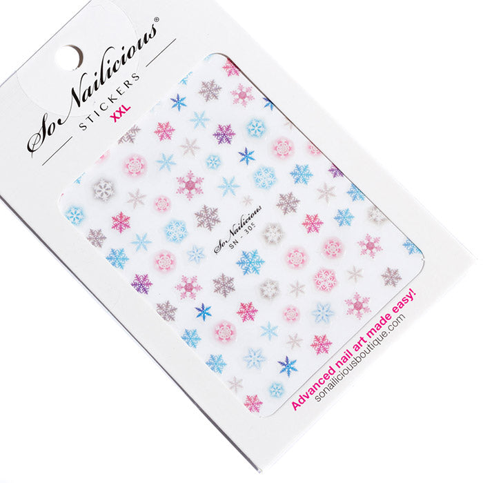Watercolor Snowflake Stickers - 305 XXL