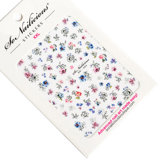 Watercolour Flower Nail Stickers