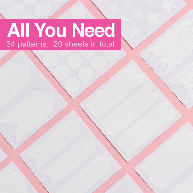 'All You Need' Nail Stencils Set (SAVE $20) - NEW!
