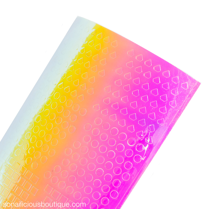 holographic nail stickers - 5 colours
