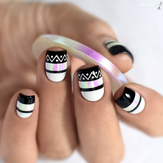 Nail Art Using Striping Tape: Aurora Nail Art Striping Tape