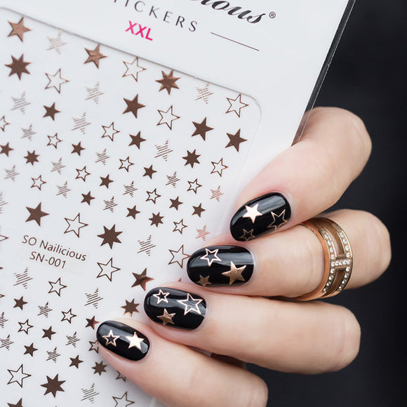 INSTA STAR nail art kit - Coffin nail tips