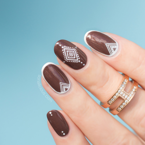 Bohemian nail art stickers