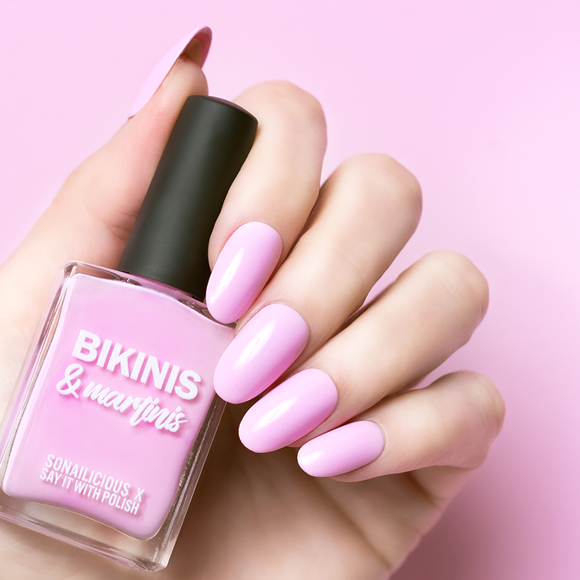 Say it with polish pink nail polish