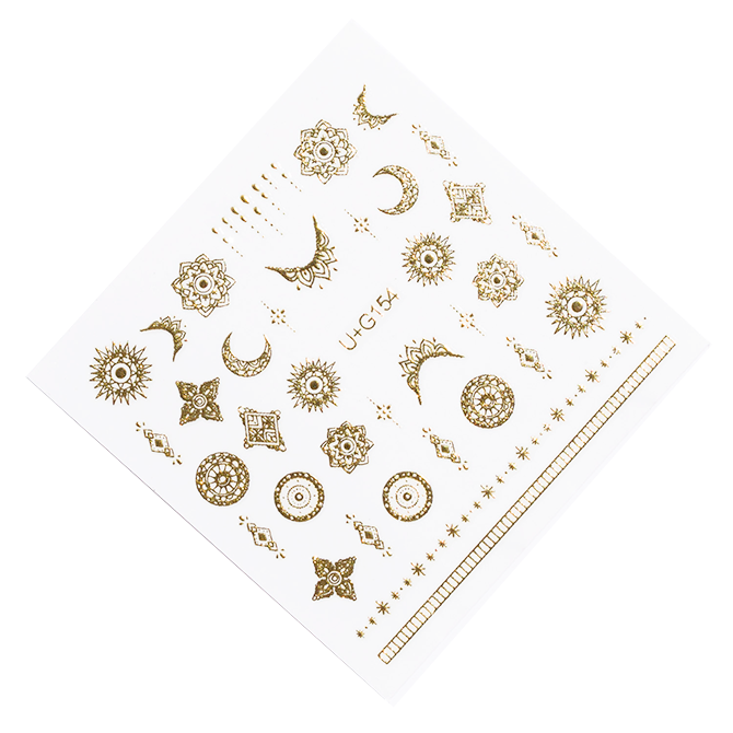 Gold Celestial nail stickers