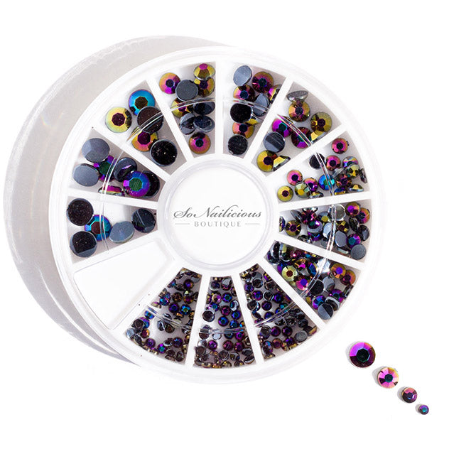 Chameleon rhinestones for nails