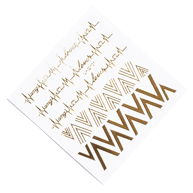 Gold Chevron nail stickers