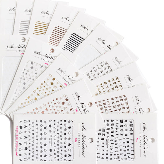 classic nail stickers set - all in one