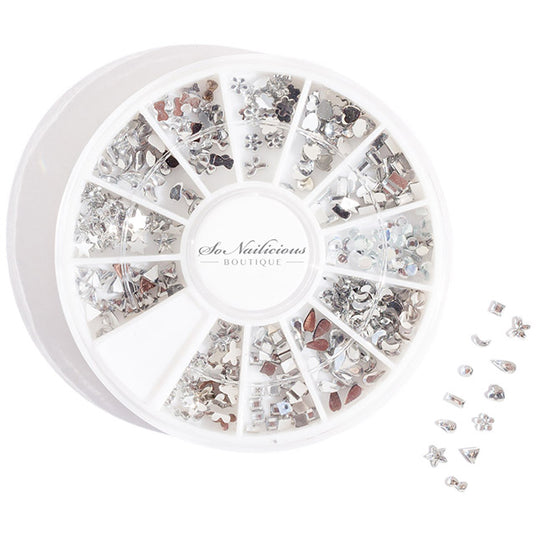 Clear Rhinestones Nail Art Wheel - 250 Pieces