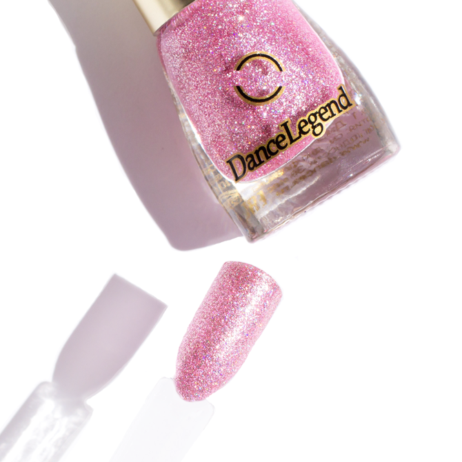 DANCE LEGEND 008 pink holographic glitter nail polish