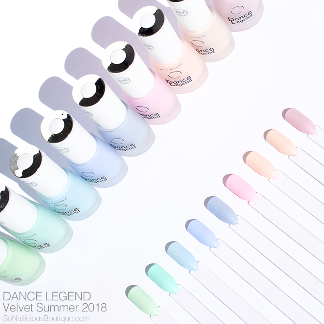DANCE LEGEND Velvet matte nail polishes