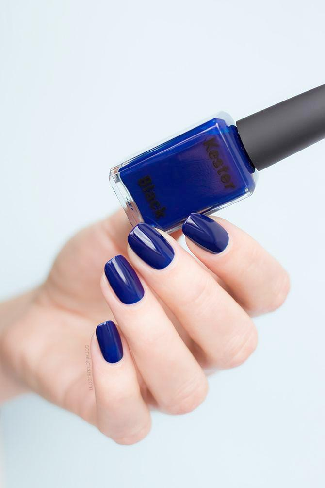 dark blue nail polish kester black bleu