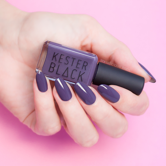 KESTER BLACK Nightshade dark purple nail polish