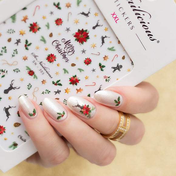 All-In-One MERRY CHRISTMAS Nail Sticker Set -  SAVE 30%