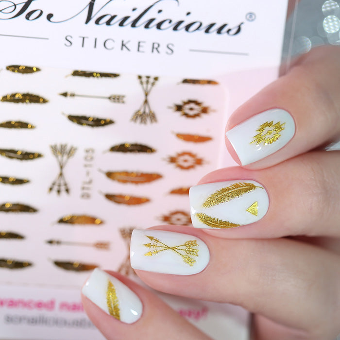 festival nails with SoNailicious stickers