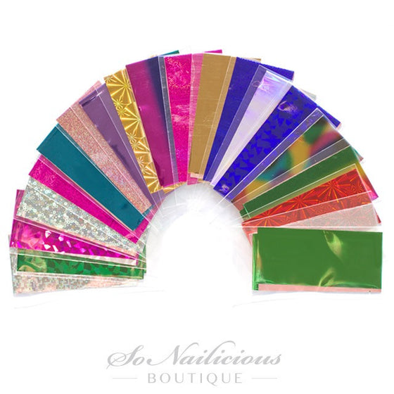 Nail Foil Set - 20 COLOURS