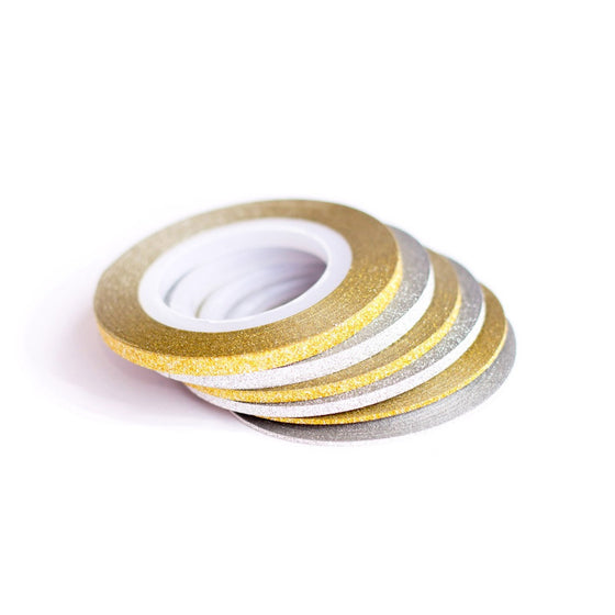 Glitter Nail Art Striping Tape - 2 Colours