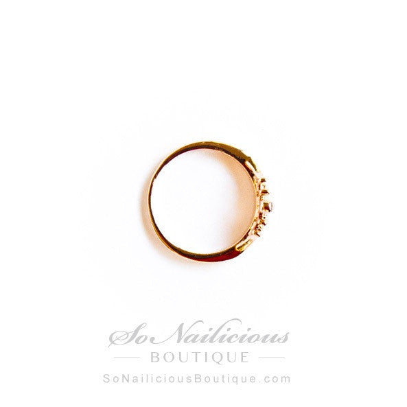 Delicate Gold Crown Ring - ONLY 1 left!