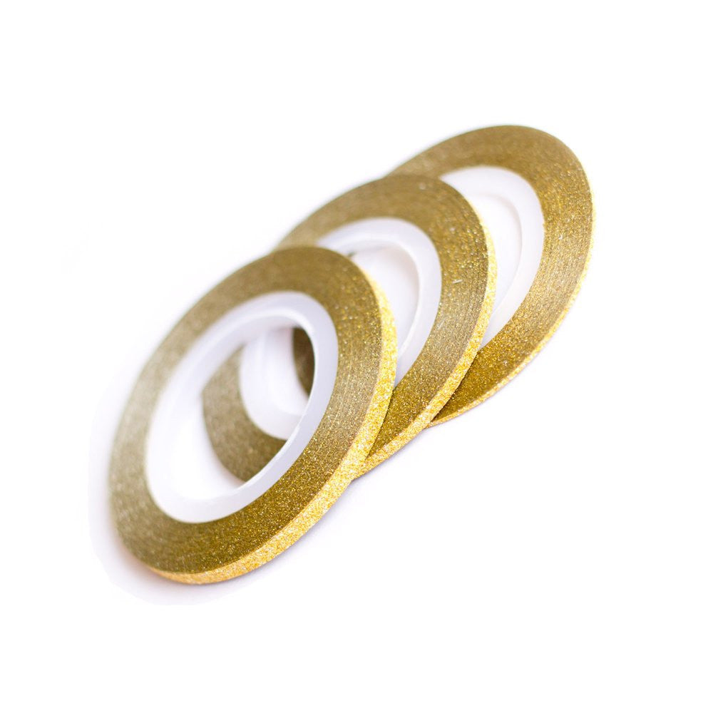 gold glitter striping tape