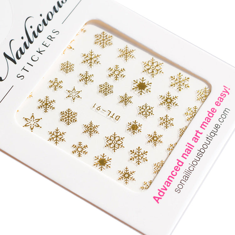 gold snowflake stickers