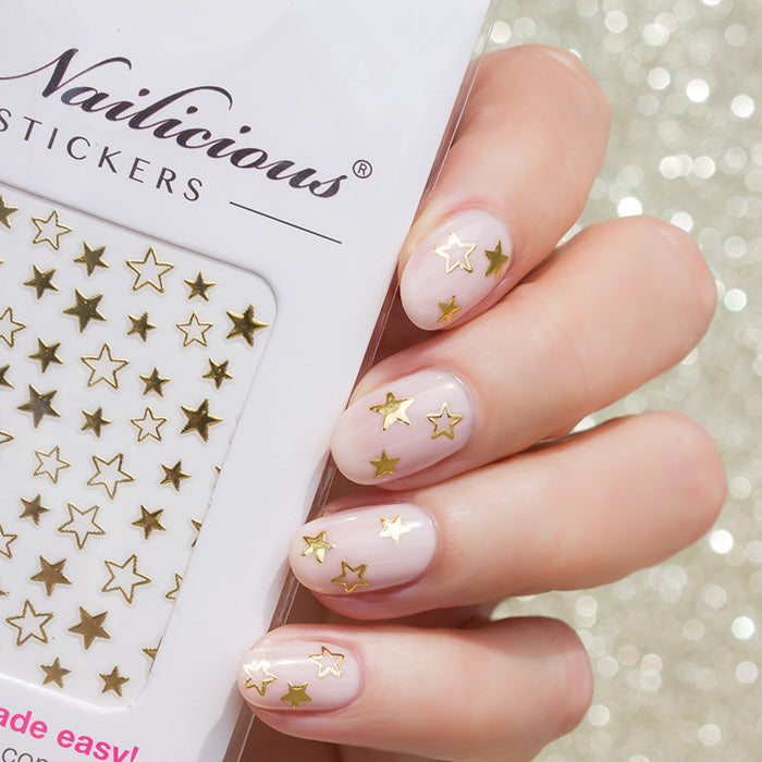 gold star nails